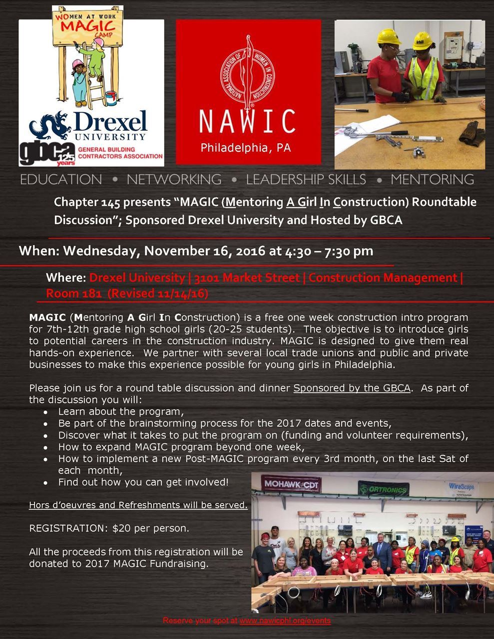 Round table discussion flyer - Nawic Philadelphia Pa Chapter 145 Nawic 2017 Magic Roundtable Discussion